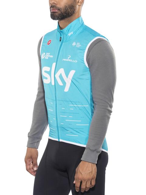 Castelli Team Sky Pro Light Wind Vest Men blue